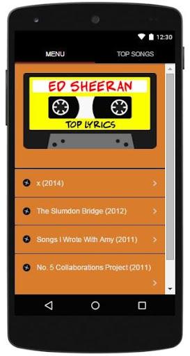 Ed Sheeran Lyrics Top