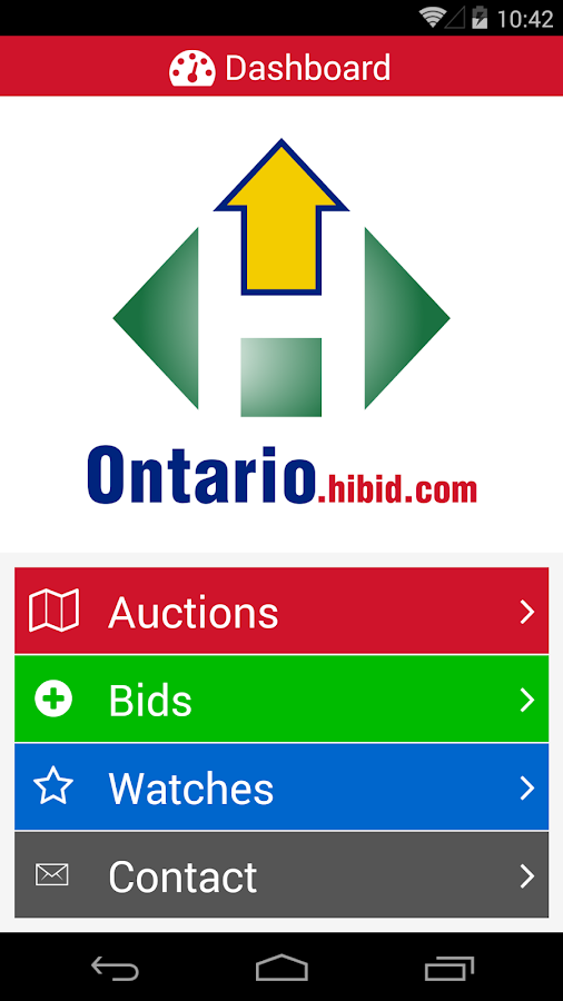 Ontario HiBid- screenshot