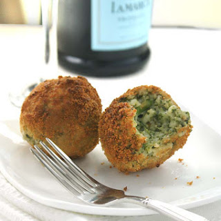 Spinach Pesto and Asparagus Arancini