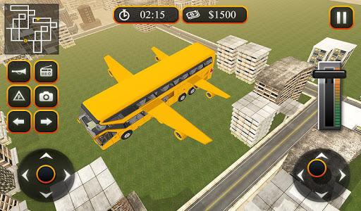 Flying School Bus Sim 2017 1.0.3 screenshots 17