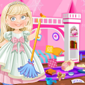 Princess Doll House Cleaning & Decoration Games