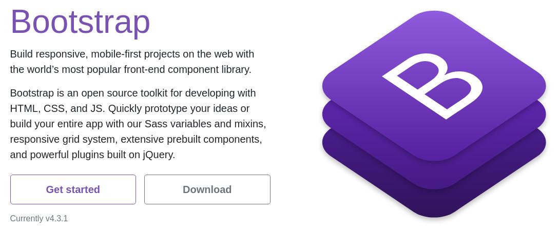 imagem da página inicial do Bootstrap