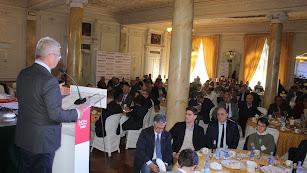Imagen del desayuno organizado por La Voz de Almería y Fundación Cajasol.