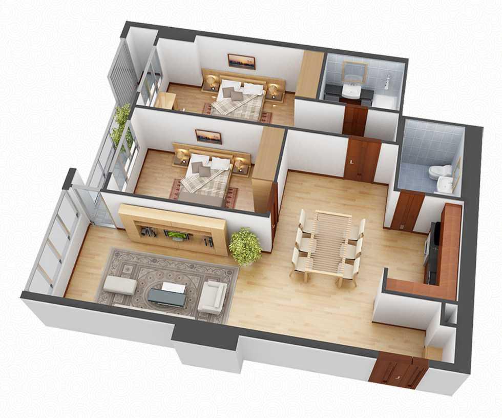 bản vẽ thiết kế căn hộ tối giản