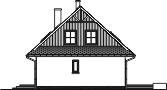 Domek Ciepły szkielet drewniany 012 BD - Elewacja prawa