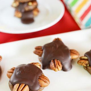 Guilt Free Chocolate Pecan Turtles