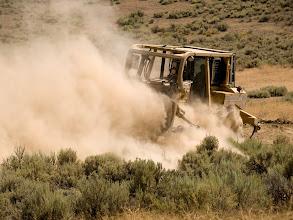 Photo: West Cinder Prescribed Burn, Twin Falls District BLM, Idaho, August 4, 2010, dozer work