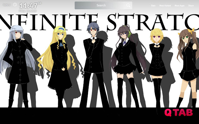 Infinite Stratos Wallpapers Theme New Tab