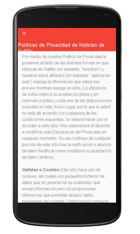 android Noticias de Saltillo Screenshot 1