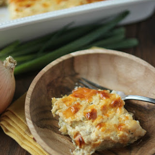 Cheesy Onion Scalloped Potatoes