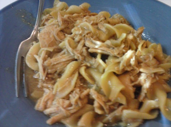 Noodle dishIn a baking dish add the shredded leftover chicken, the sauce from the...