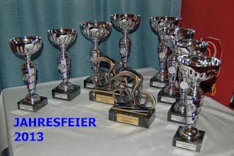 Photo: Die Trophäen unserer Vereinsmeisterschaft