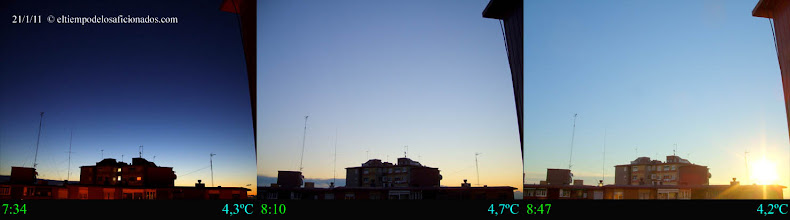 Photo: Amanecer del día 21/01/11