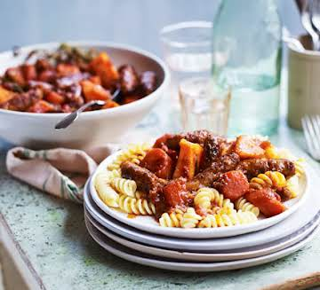 Slow cooker sausage casserole