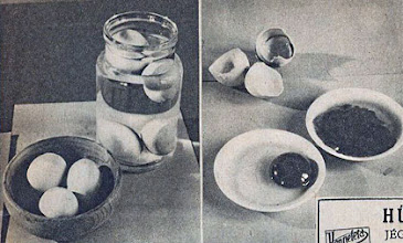 Photo: Testowanie jajek - A friss tojás a víz fenekére száll. Az állott, régi tojás a víz szintén marad. A friss tojás sárgája egyben marad a tálban. Az állott tojás sárgája szétfolyik.