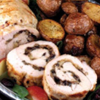 Grilled Turkey Breast with Cran-Apple Cremini Stuffing