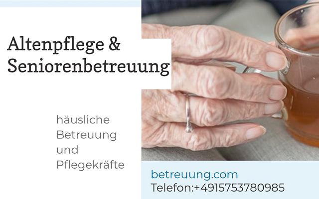 Krankenpflege Seniorenbetreung - Pflegedienst