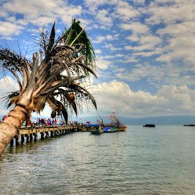 Dermaga Kota Agung by Haddy Hartono - Landscapes Beaches