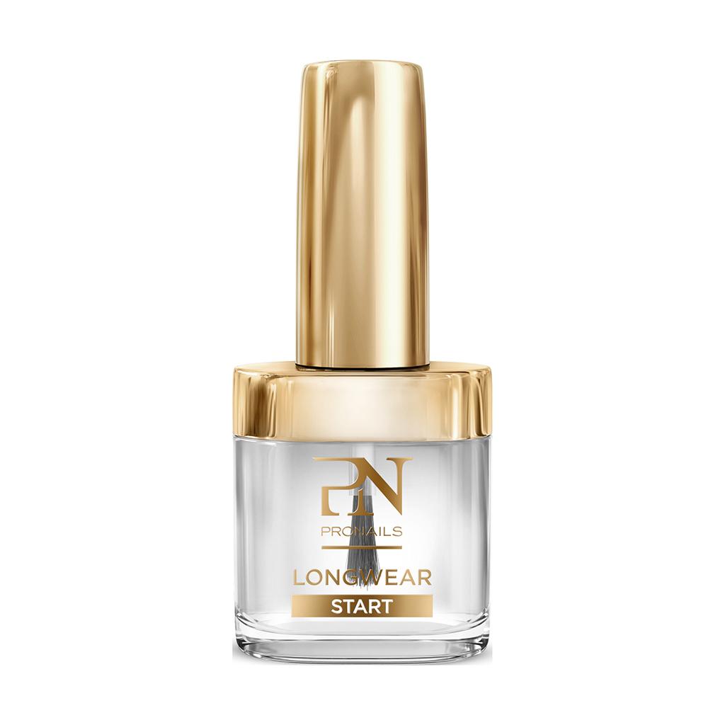 De belofte van Pronails Longwear Start 10 ml Basecoat:  Beschermt de nagelplaat tegen verkleuring Voorkomt chippen Verlengt de draagtijd Eenvoudig aan te brengen Beschermt de nagelplaat
