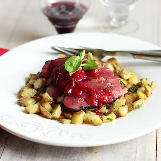 Duck Breasts with Plum Sauce.