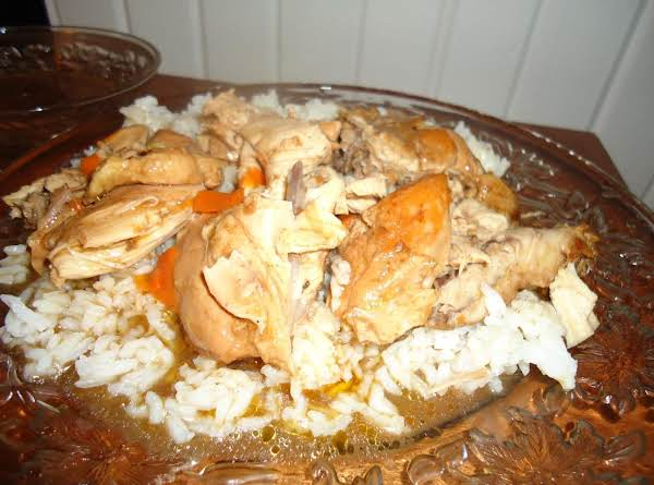 This Is An Easy Delicious Chicken Dish.  Served Here Over White Rice.