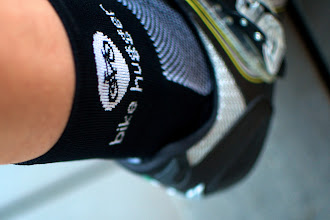 Photo: Custom made for us by Hincapie Sportswear these socks are the most comfortable pair you'll ever wear in a cycling shoe and feature our logo and logotype. Made with ingenious blend of Coolmax, mesh sole, and an extra smooth toe seam they're intended for an all-day ride.  Available on Amazon.com for $9.99 USD http://goo.gl/SyLIf