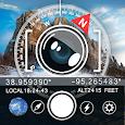 GPS Camera with latitude and longitude icon