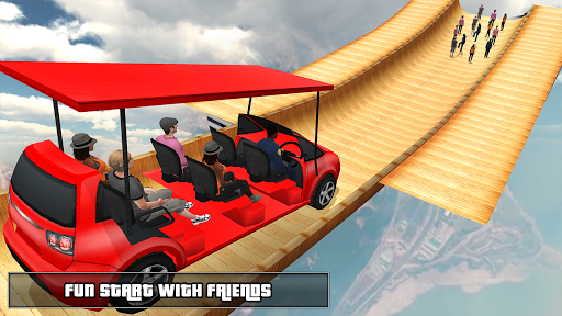 Biggest Mega Ramp With Friends - Car Games 3D apkpoly screenshots 1