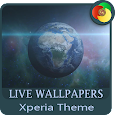 Earth in the galaxy | Xperia™ Theme