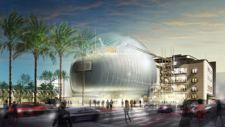 Architectural rendering of the Museum of the Academy of Motion Picture Arts and Sciences.