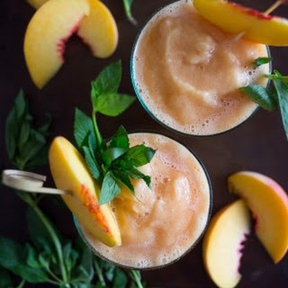 Peach Tea Bourbon Slushies