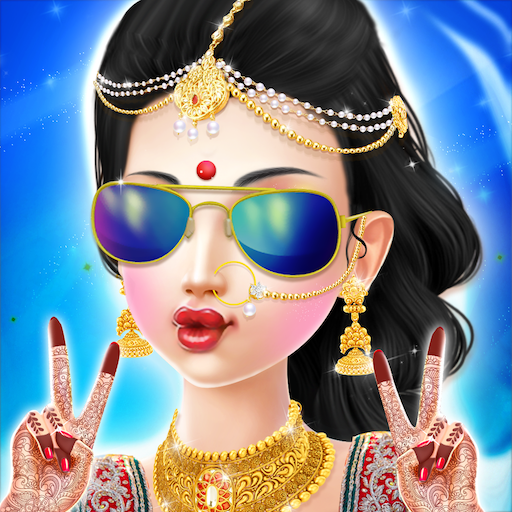 Indian Wedding Bride Fashion Dressup and Makeover Icon