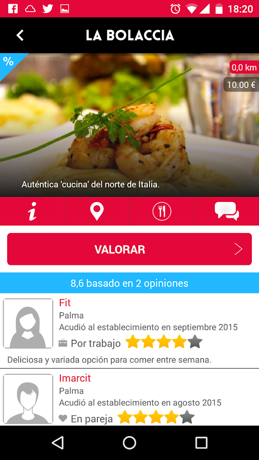 diarioMENU Restaurantes- screenshot