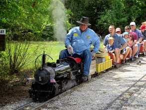 Photo: Engineer Pete Greene getting on after getting water.     HALS Public Run Day 2014-0419 RPW  11:59 AM