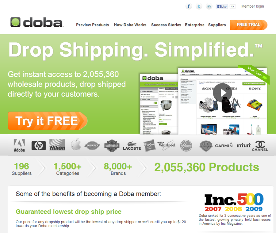 Best drop shipping companies Doba