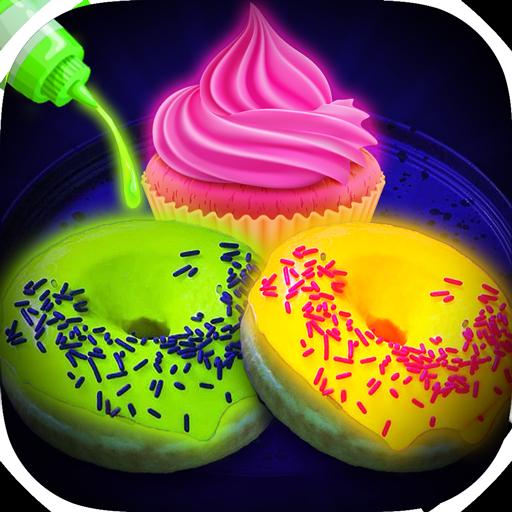 Glow In The Dark Foods! Neon Cupcakes & Glonuts (game)