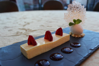 Photo: Passion Fruit Panna Cotta, Tuile & Sorbet is our February special at The Cavendish Restaurant & Terrace!