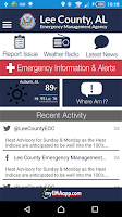 Screenshot of Lee County EMA