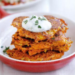 Carrot And Feta Fritters.
