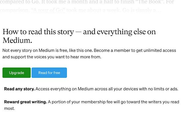 Read Medium for free