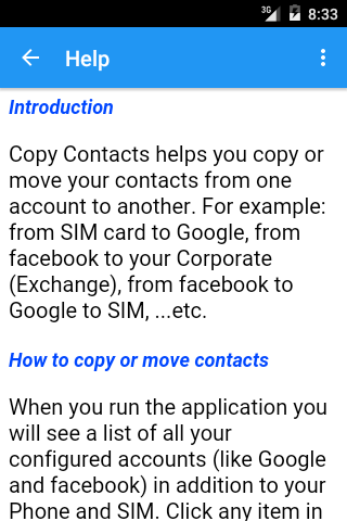 Copy Contacts- screenshot