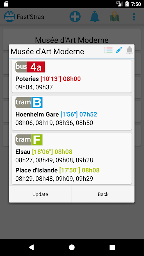 FastStras: capturas de pantalla de autobuses y tranvías 2