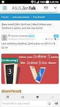 ASUS ZenTalk Community screenshot thumbnail