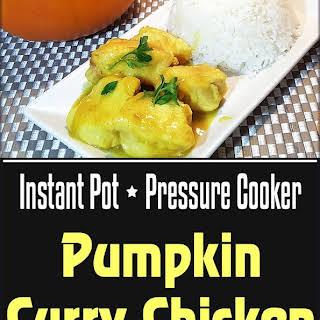 Pressure Cooker Pumpkin Curry Chicken.
