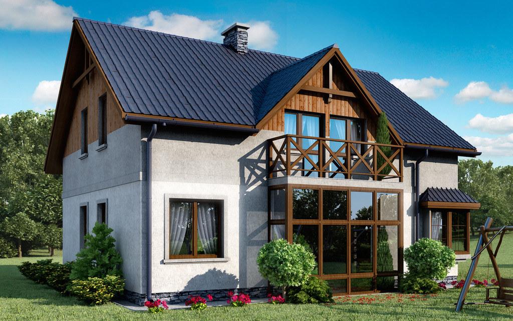 Modernistyczne Projekt domu D14 - Roman (TJG-717) - 150.39m² DR07