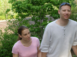 Photo: Steve and Gaimi In The Grounds of Grey Towers