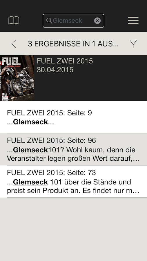 FUEL E-Paper- screenshot