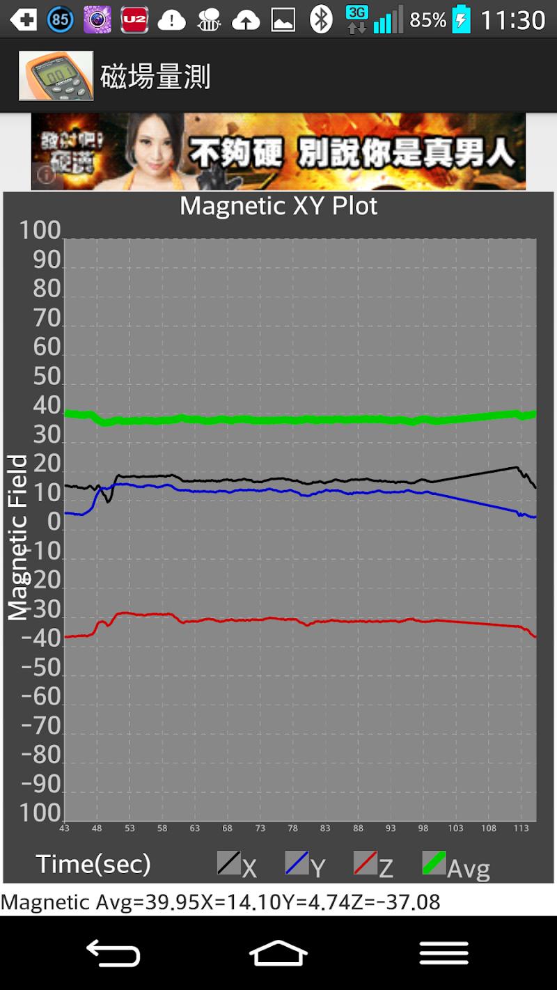 Скриншот Magnetic Field Measure