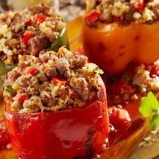 Italian Sausage and Quinoa Stuffed Pepper.