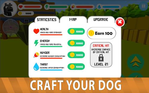 Blocky Dog: Farm Survival - náhled